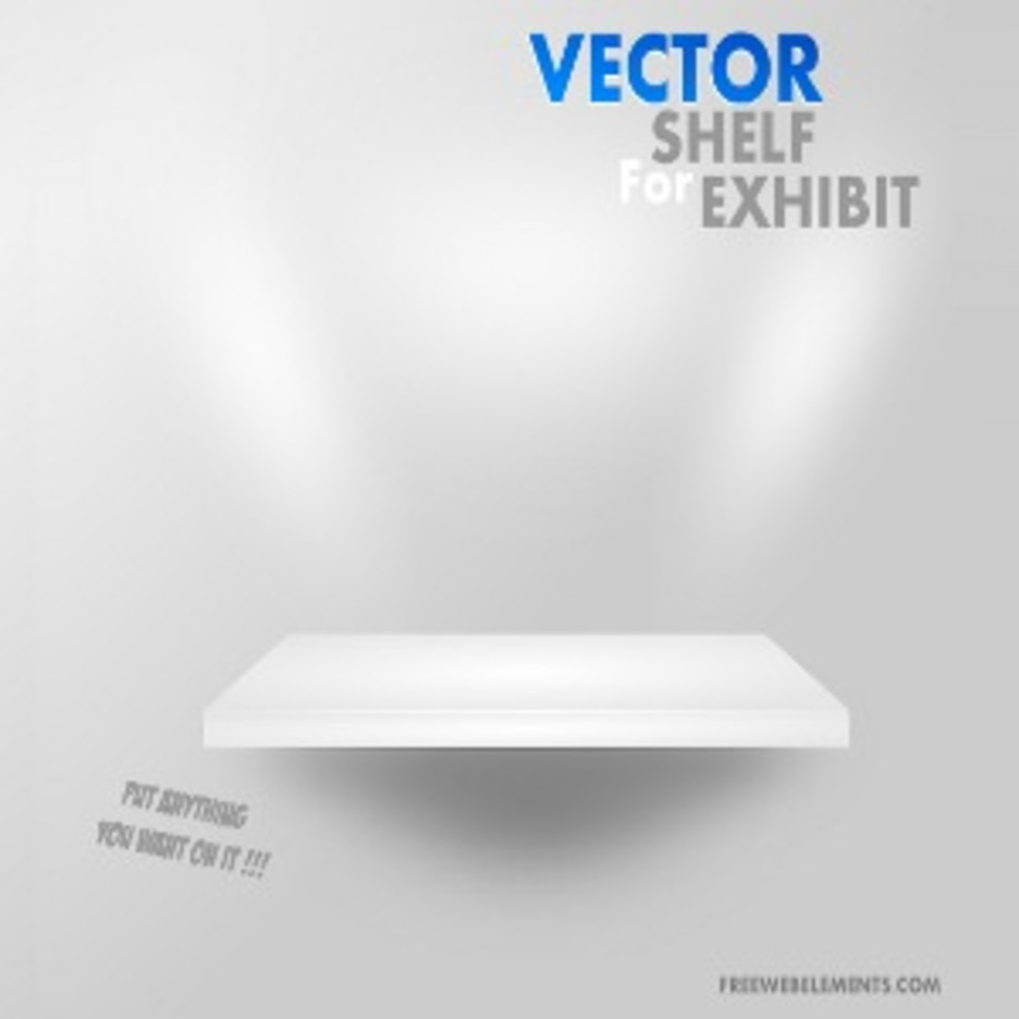 Vector Shelf For Exhibit