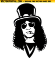 Slash Guns And Roses Vector