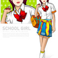 25 Ai Vectors School Girls