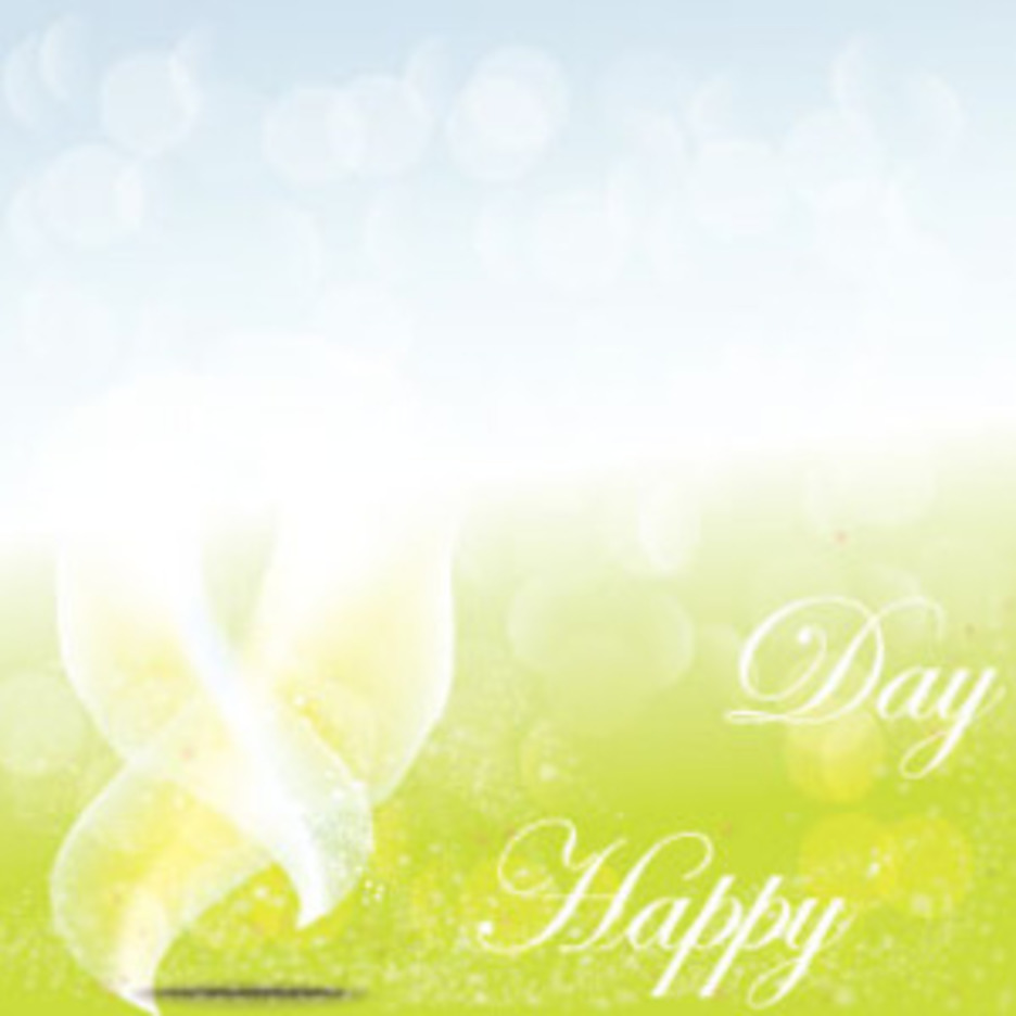 Happy Day Nature Abstract Vector Background
