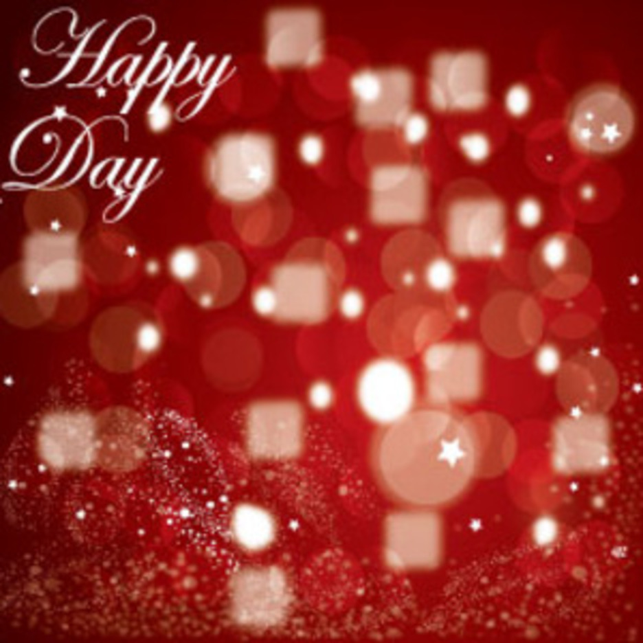 Happy Day Red Background Vector Graphic