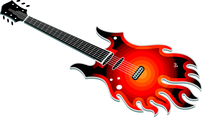 Flame Guitar Vector