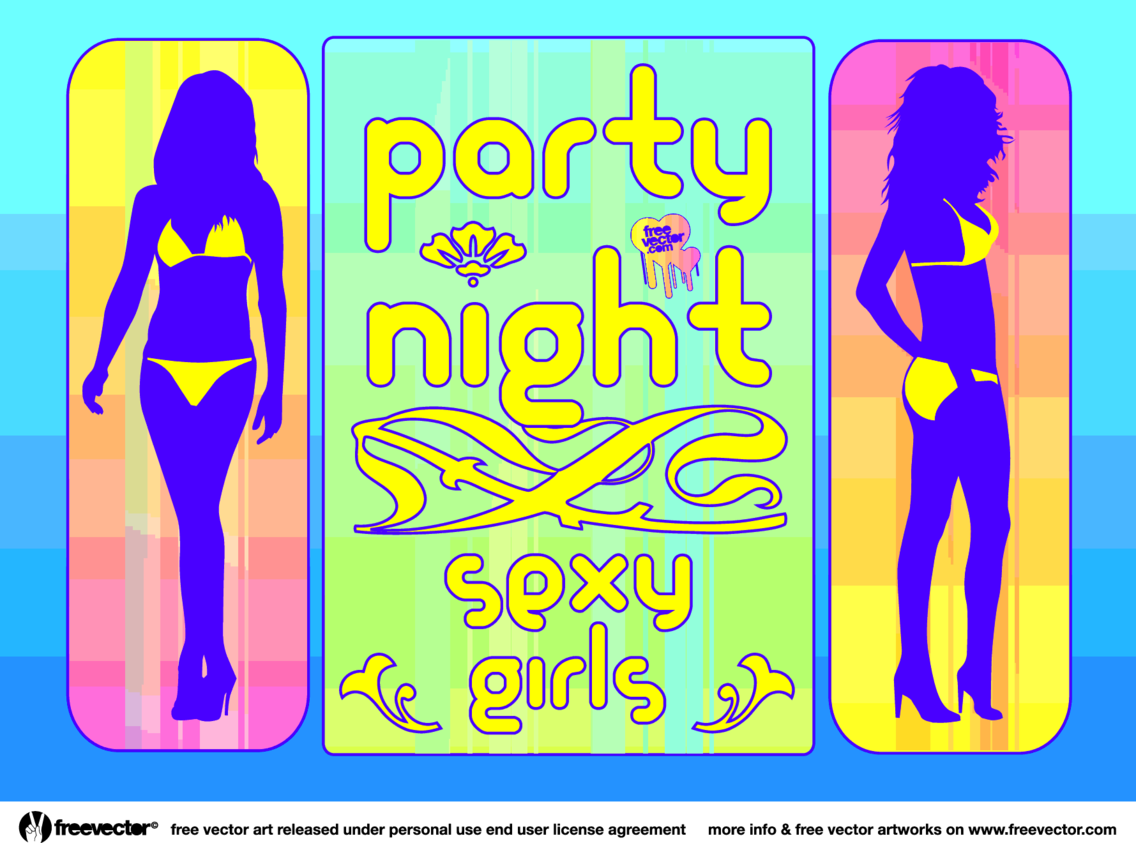 Sexy Girls Party Vector