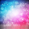 Colorful Abstract Background With Stars And Bubbles
