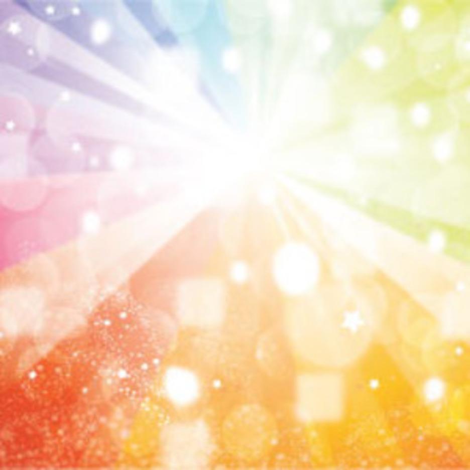 Shinnig Colored Rainbow With Transparent Design