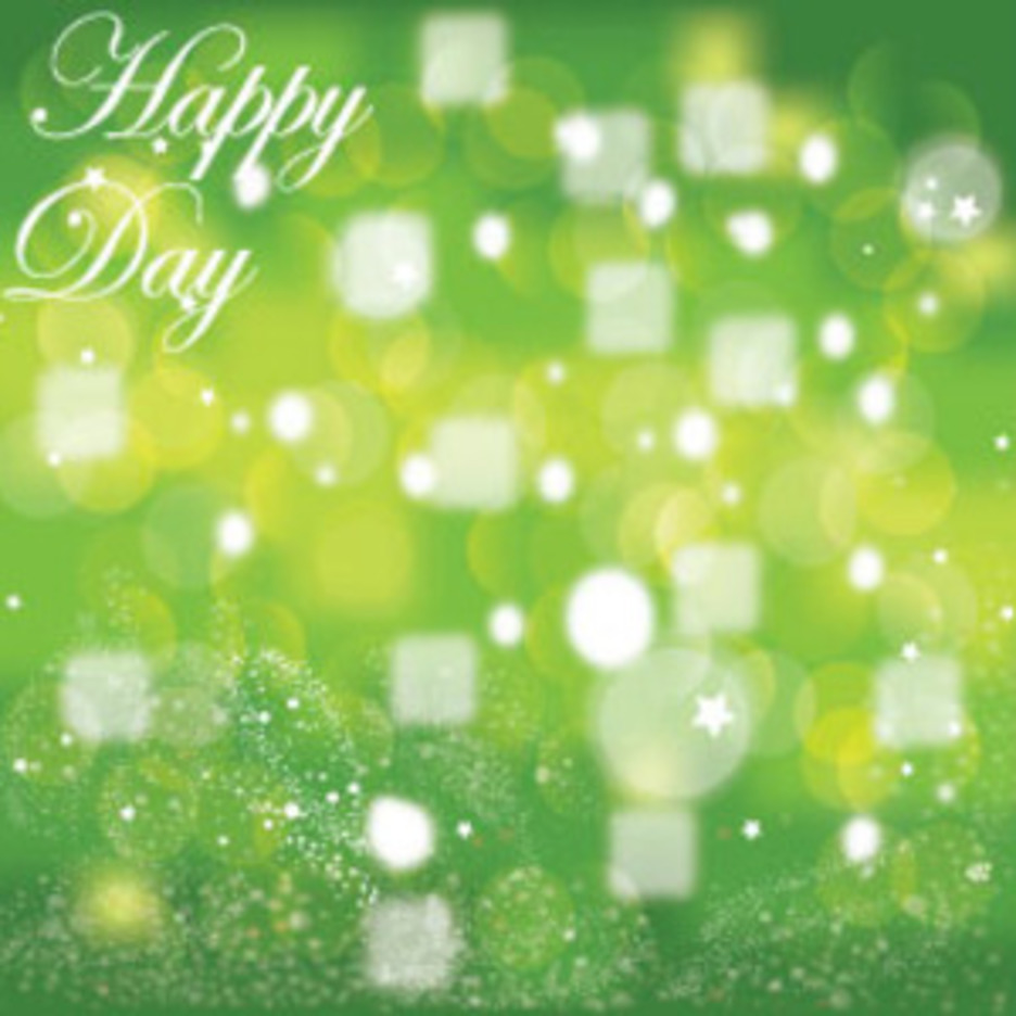 Happy Day Green Background Vector Graphic