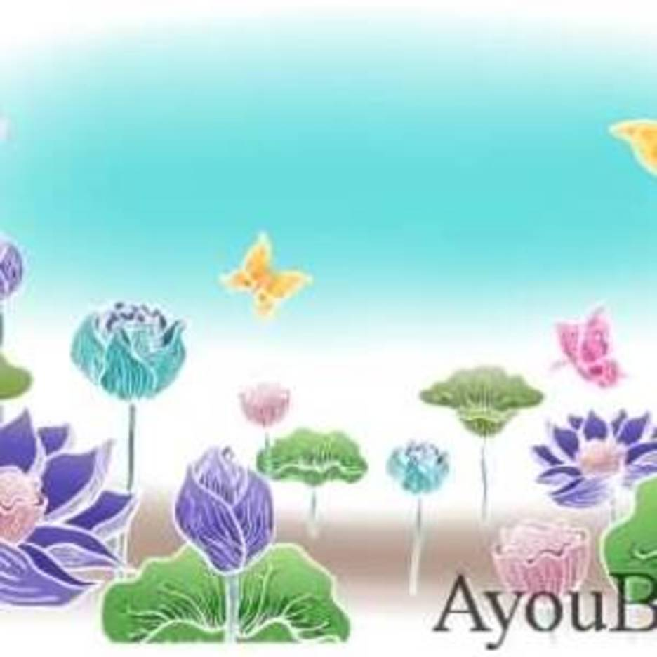 Flowers Butterfly Vector AyouBox.com