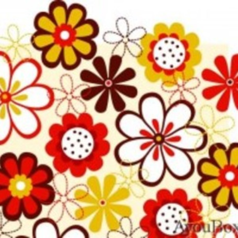 Free Flower Vector Background4
