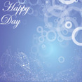 Happy Day Blue Background Vector Graphic