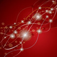 Lines And Stars Abstract Red Vector