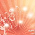 Swirly Dotted Orange Abstract Background
