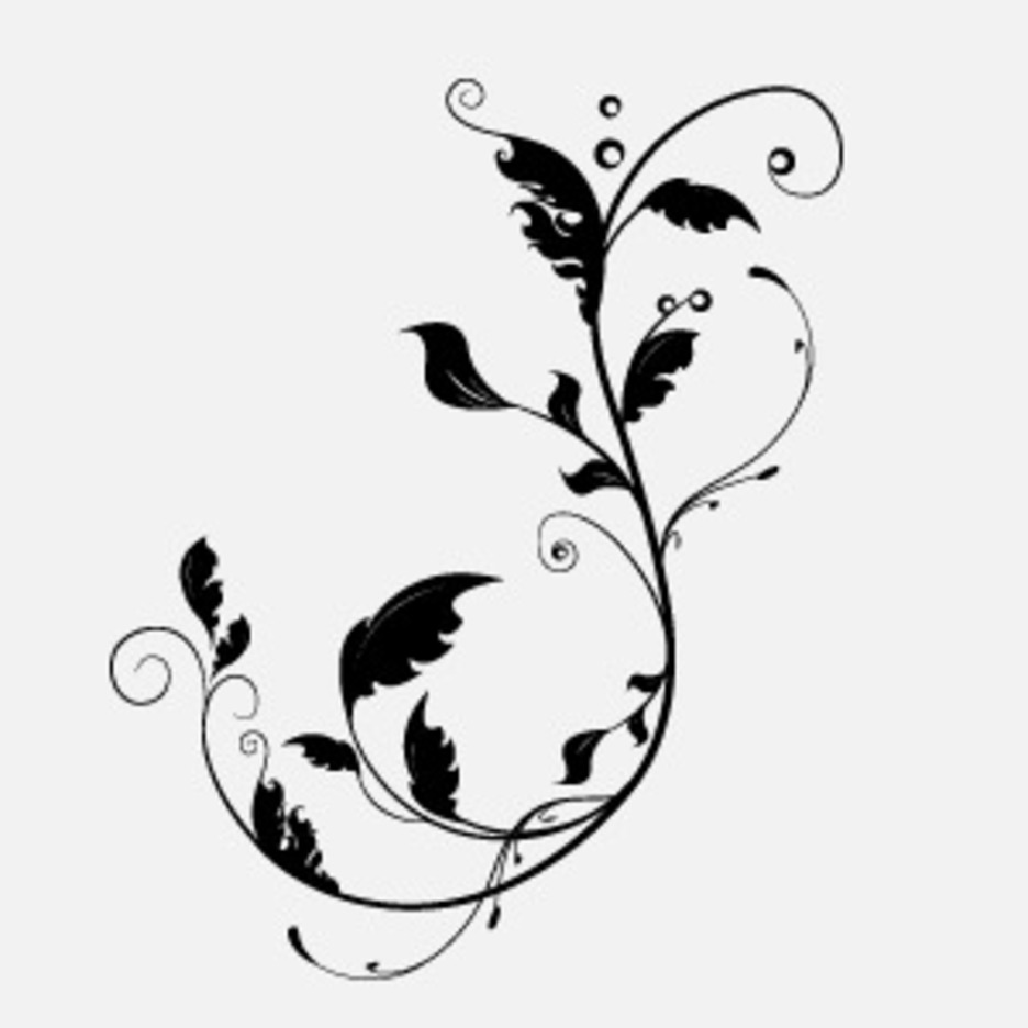 Free Floral Vector With Leafes