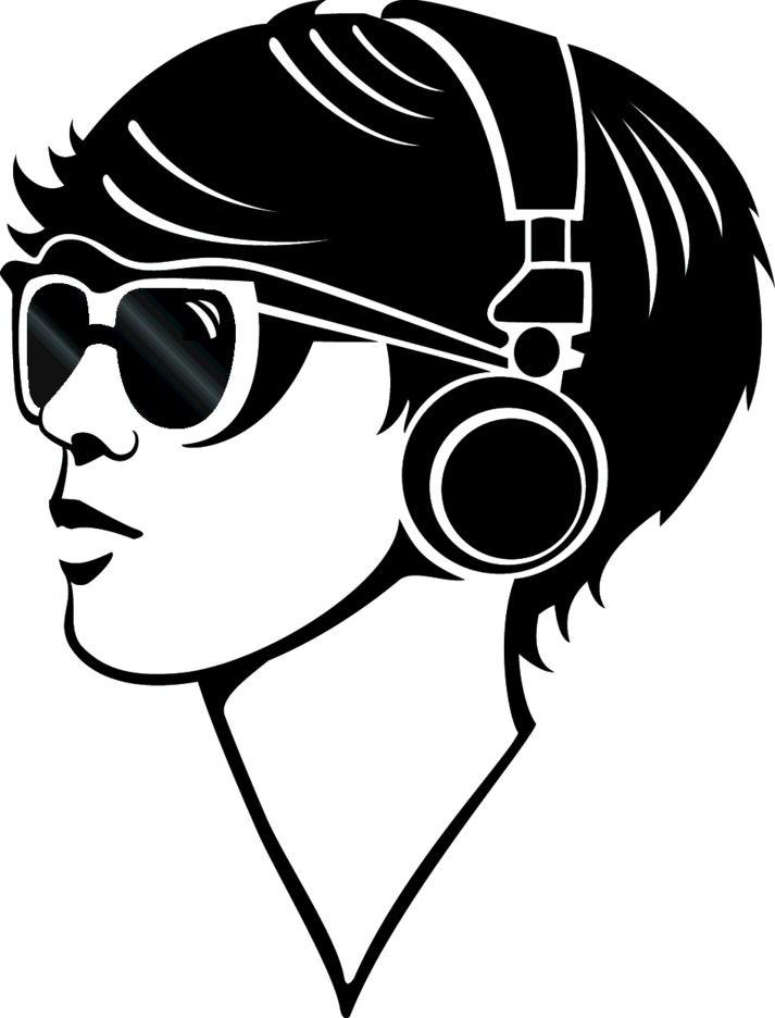 Techno Girl Vector