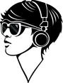 Techno Girl Vector