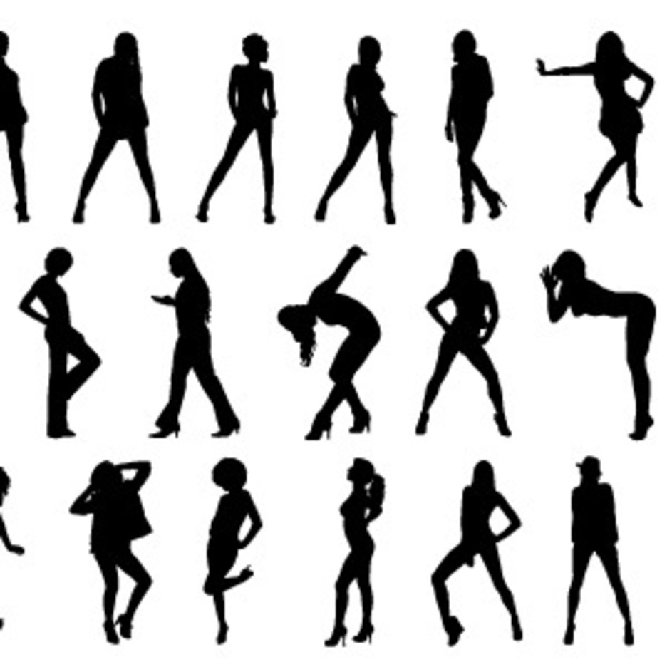 Free People Silhouettes Vector-4