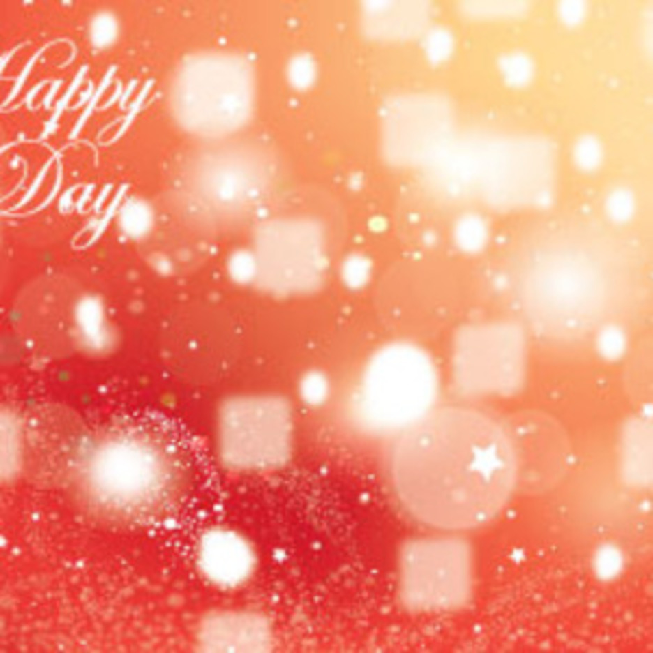Orange Happy Day Abstract Shinning Graphic