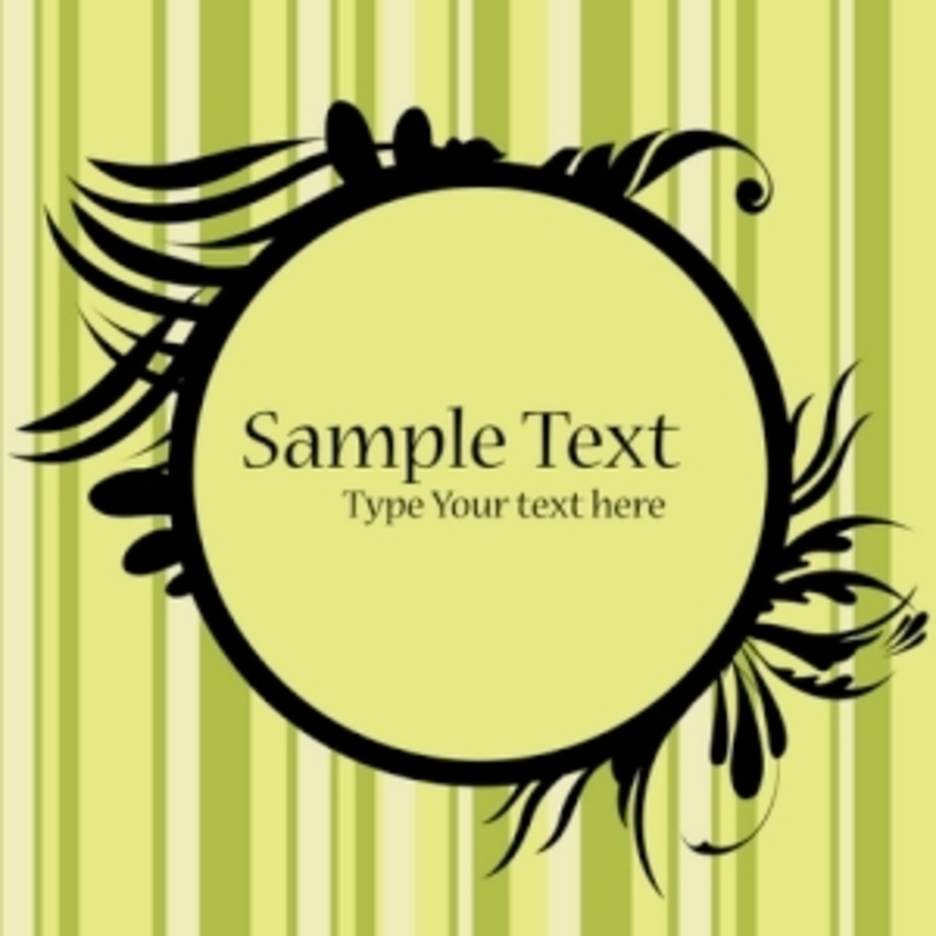 Floral Frame With Sample Text