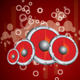 Red Micro Sounds Free Vector Background