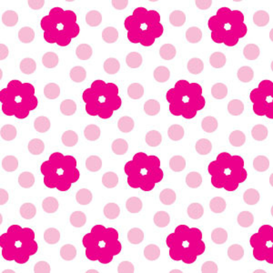 Simple Pink Flower Seamless Pattern