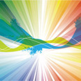 Colorful Abstract Rinbow Vector Design
