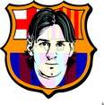 Barcelona Logo With Messi Portrait