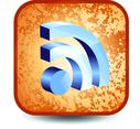 Grunge RSS Button