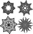 Tribal Stars Vector Set 1