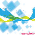 Blue Abstract Squars Free Vector Graphic