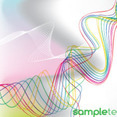 Abstract Colored Lines Free Vector Background