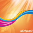 Abstract Colored Waves In Orange Shining Vector