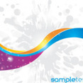 Colored Abstract Lines In Blur Design