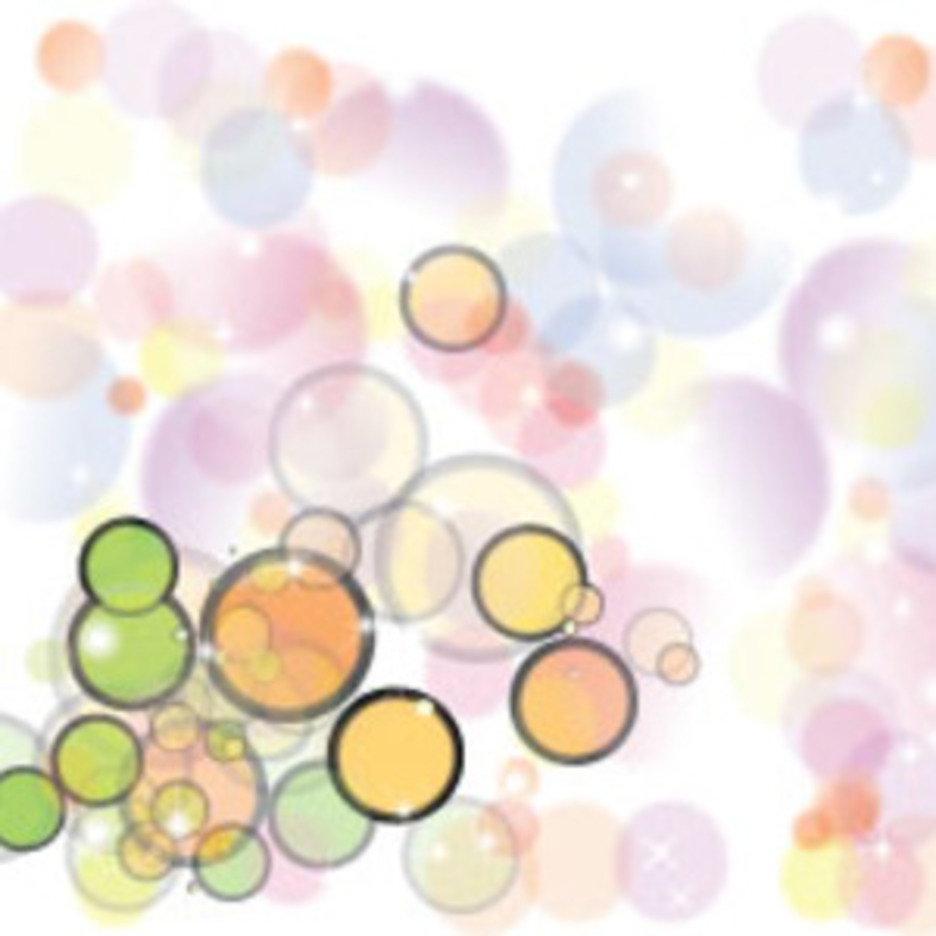 Colored Retro Bubbles In White Vector