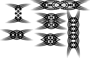 Tribal Tattoo Vector Elements