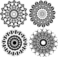 Tribal Star Vector Shapes