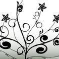 Free Flower Ornaments Vector-1