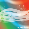 Colored Background With Swirls Lines Vector Graphic