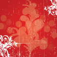 Grunge Swirly Red Background Free Design