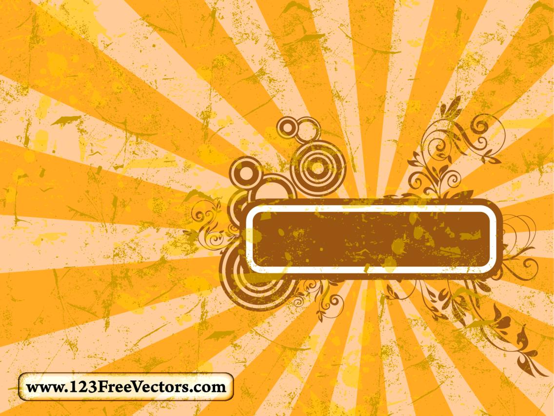 Sunburst Frame Vector
