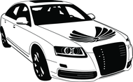 Audi Car Vector Image