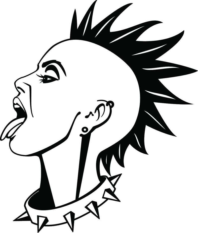 Punk Girl Vector Illustration
