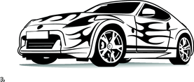 Sports Car Vector Illustration