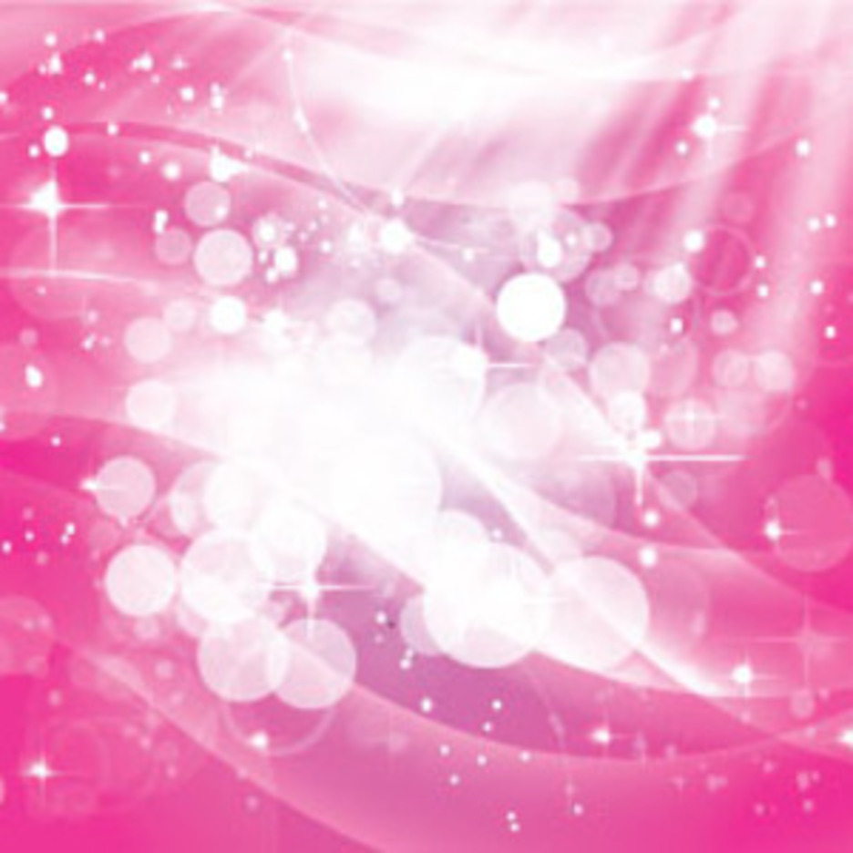 Pink Shinning Stars With White Bubbles