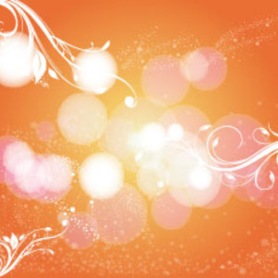 Orange Background With Swirly Bubbles