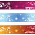Hree Swirly Banners Free Vector Art