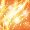 Golden Shinning Light In Orange Vector
