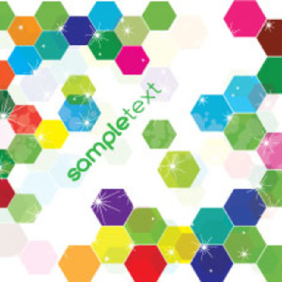 Colored Hexagonal Vector Free Background