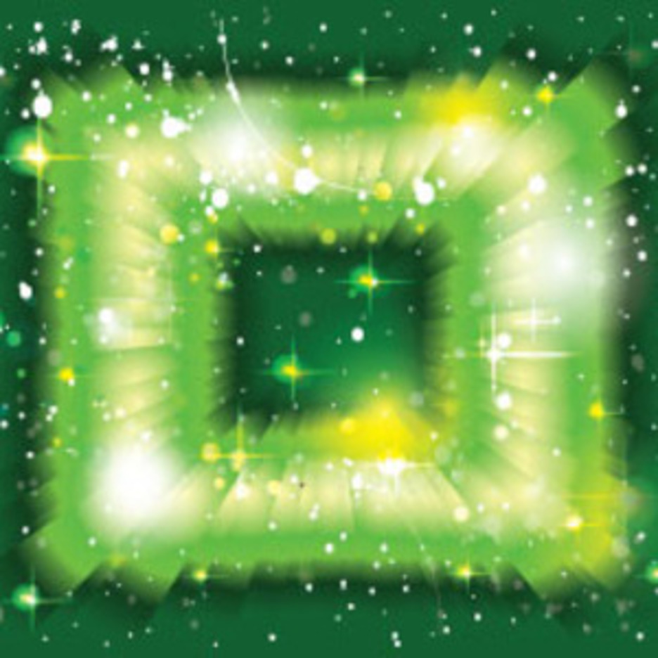 Green Rainbow With Stars And Light Free Graphic Design