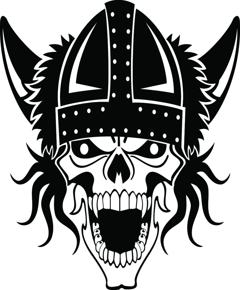 Viking Skull Free Vector