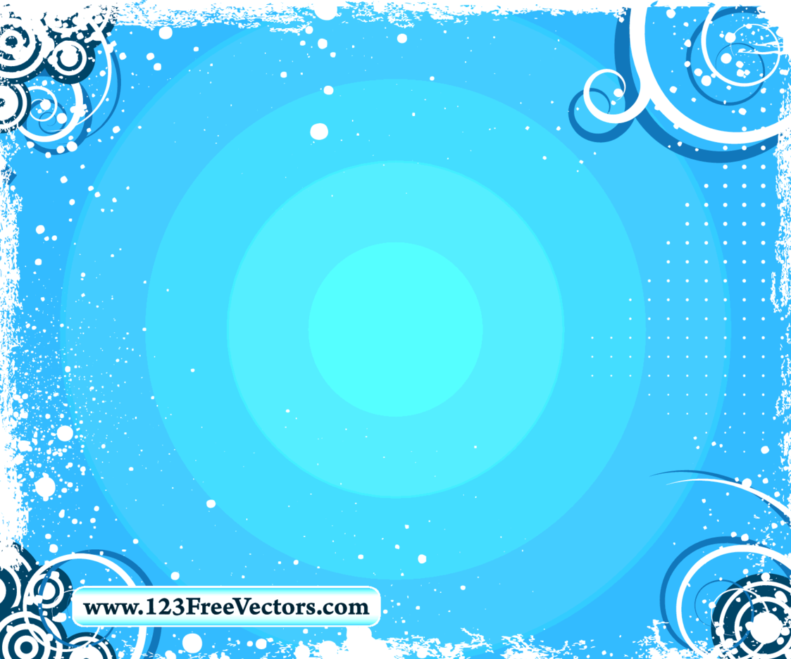 Swirl Grunge Frame Vector