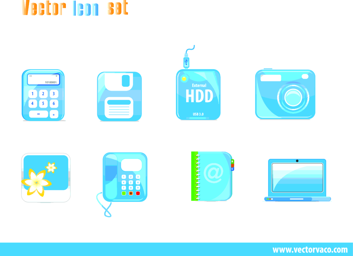 Free Blue Vector Icons